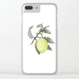 Original Lemon Watercolor Painting #2 Clear iPhone Case