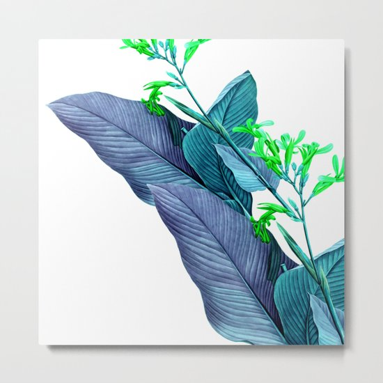 Leaf feathers Metal Print