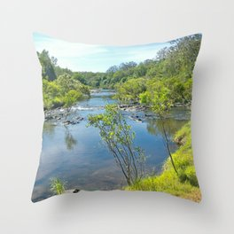 Magnificent tranquil river Throw Pillow