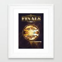 nba Framed Art Prints featuring NBA Finals 2015 by Davide Barco