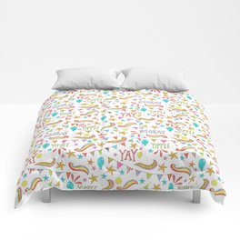 colorful party pattern Comforters