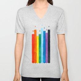 Coloring Pencils Unisex V-Neck