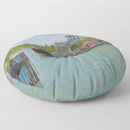 Drummond Island Ferry Floor Pillow