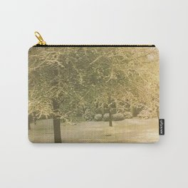 Snowy Tree Carry-All Pouch