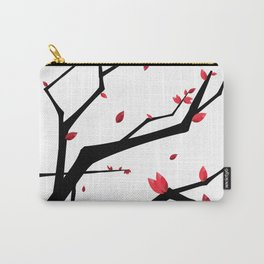 Cherry Blossom Geometric Carry-All Pouch