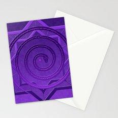 okataar purple mandala Stationery Cards
