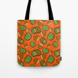 Chestnut and Chestnut Cupule Pattern Tote Bag