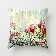 OPPOSITE LOVE - Rusted Magnolia Tree - (decrepit beauty) Throw Pillow