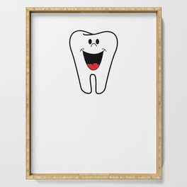 Be Kind To Your Dentist He Has Fillings Too Funny Dentist Pun Serving Tray