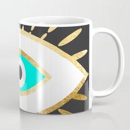evil eye gold foil print Coffee Mug