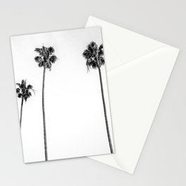 Black + White Palms Stationery Cards