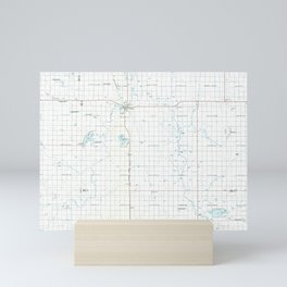 SD Redfield 344713 1985 topographic map Mini Art Print