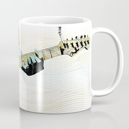 Music Piece of a Person Playing Guitar Coffee Mug