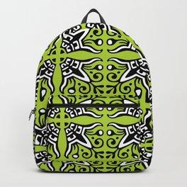 Funky Tribal Green Pattern Backpack