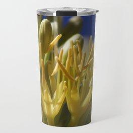 Closeup of Blossoming Parry's Century Plant Travel Mug