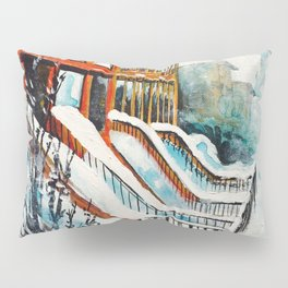 Brooklyn New York In Snow Storm Pillow Sham