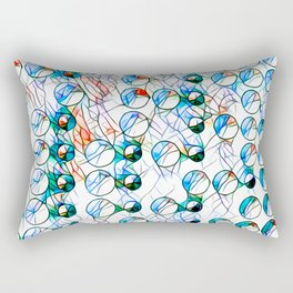 Glass stain mosaic 10 - bubbles, by Brian Vegas Rectangular Pillow