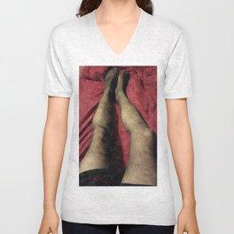 Silky LegStyle Pantyhose Portrait  Unisex V-Neck