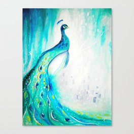 Peacock Painting Canvas Print