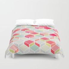 CUBE PINK Duvet Cover