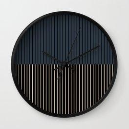 Color Block Lines XVII Wall Clock
