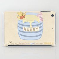 winnie the pooh iPad Cases featuring Winnie the Pooh - Hunny Dip by sunshinecandy