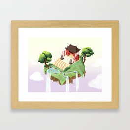 Temple in the sky Framed Art Print