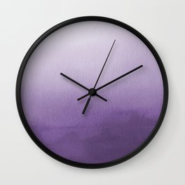 Inspired by Pantone Chive Blossom Purple 18-3634 Watercolor Abstract Art Wall Clock