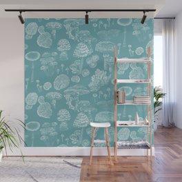 Mycology Blue Wall Mural