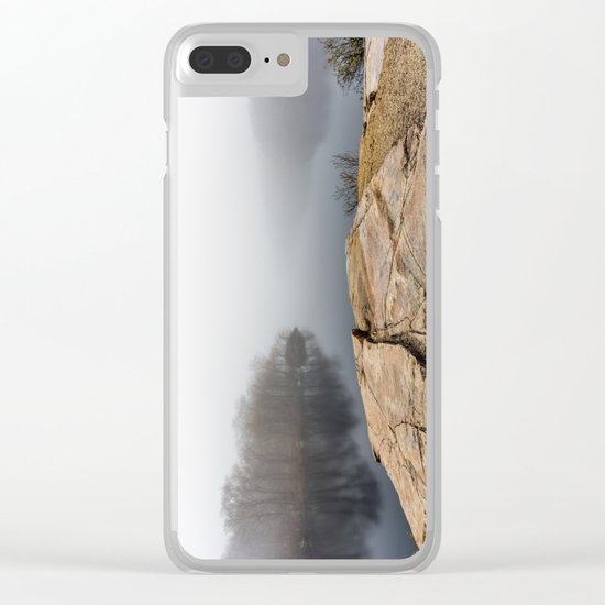 Foggy reflections Clear iPhone Case