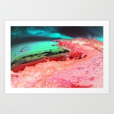 Distorted Hilltops #1 Art Print