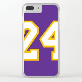 Mamba 24 Clear iPhone Case