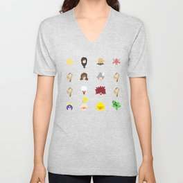 ff 9 pattern Unisex V-Neck