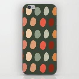 Hand drawn pastel dots pattern iPhone Skin