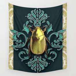 GOLDEN BEETLE Wall Tapestry