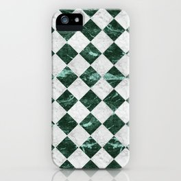 Cubic - Green & White Marble #741 iPhone Case