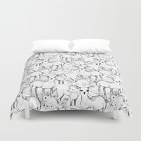 woodland Duvet Covers featuring Woodland by Lydia Meiying