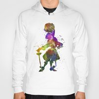 captain hook Hoodies featuring Captain Hook in watercolor by Paulrommer