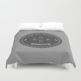 The Cracked Seal of Officialness Duvet Cover