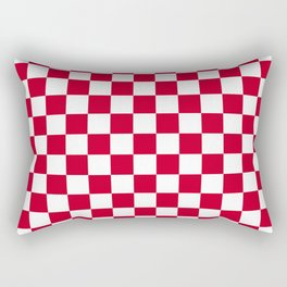 Red and White Check Rectangular Pillow