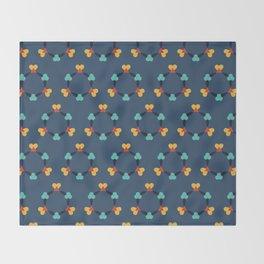 Kaleidescope blue Throw Blanket