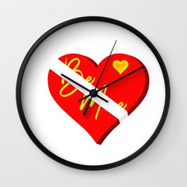 Box of Chocolates Valentines Day Wall Clock