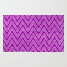 Vivid Purple Mauve Chevron Pattern Rug
