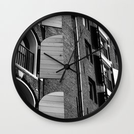 Window Shutter Textures Wall Clock
