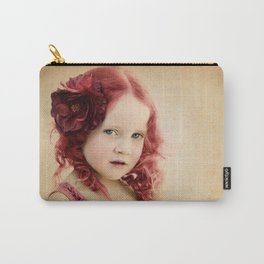 Mila as a Vintage Rose Carry-All Pouch