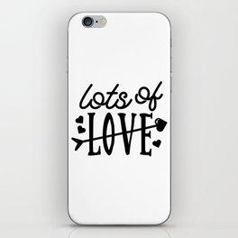 Lots of love iPhone Skin