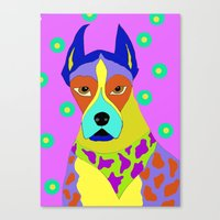 great dane Canvas Prints featuring Great Dane by Ladybumblebee