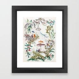 Enchanted Forest Chinoiserie Framed Art Print