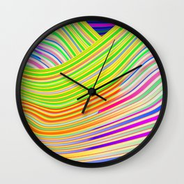Play with stripes  13 Wall Clock