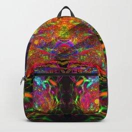 Black Fire Alien Heads Backpack